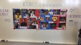 Students shared stories of Hispanic Icons